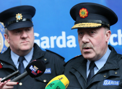 Taylor (left) was giving evidence about his former boss Martin Callinan (right) today
