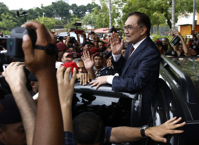 Anwar Ibrahim was greeted by cheering crowds on his release.