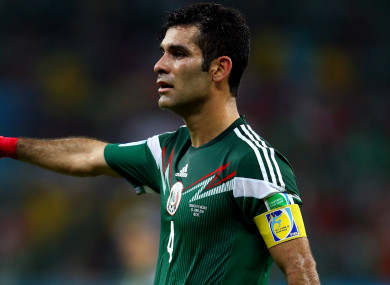 The 39-year-old hasn't played for Mexico since the Confederations Cup last year.