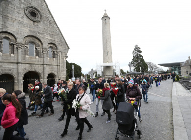 The sixth annual Flowers for Magdalene event, a ceremony of remembrance for the women of the Magdalene Laundries, in Glasnevin Cemetery (2017).