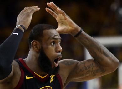 LeBron James: Cavs had the chance to draw first blood.