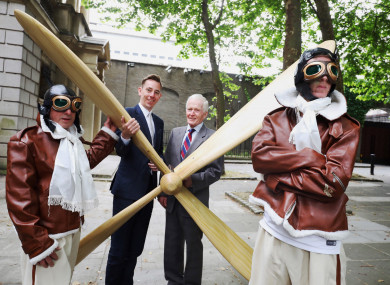 Guests of honour Ryan Tubridy and Tony Alcock at the Alcock and Brown 100 Festival launch in Dublin