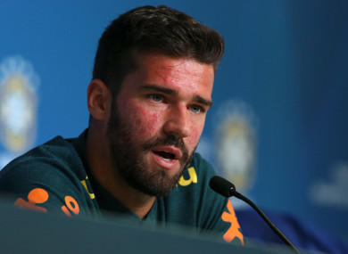 Alisson speaking to media this afternoon.