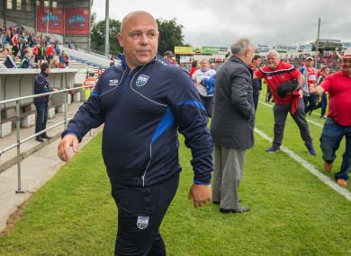 Waterford boss Derek McGrath after yesterday's tie in Semple Stadium.