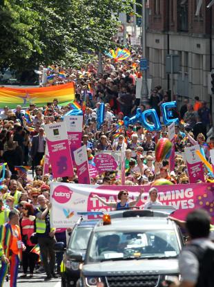 Gay Pride Parade in Dublin last year.