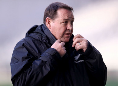 New Zealand head coach Steve Hansen.
