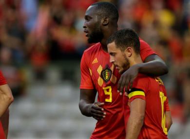 Belgium pair Romelu Lukaku and Eden Hazard