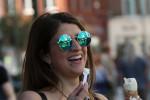 Priscilla Ribeiro from Brazil enjoying ice cream in Dublin city last month.