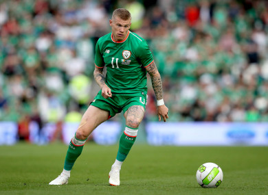 McClean is capped 59 times by Ireland.