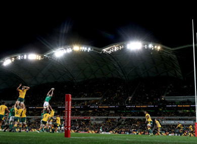 Ireland beat the Wallabies in Melbourne on Saturday morning.