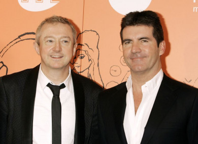 Louis Walsh (left) with fellow X Factor judge Simon Cowell.