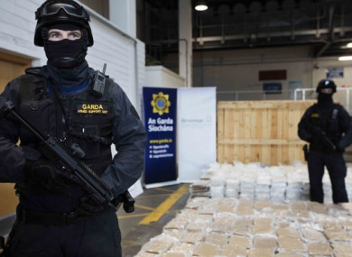 A haul of €40 million worth of herbal cannabis seized in Dublin Port last year.