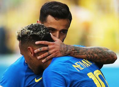 Neymar and Philippe Coutinho.