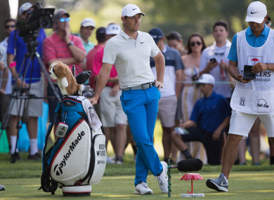 McIlroy during the first round.