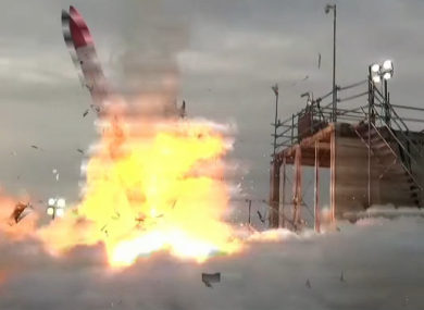 A still from the video on the rocket.