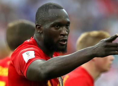 Belgium striker Romelu Lukaku.