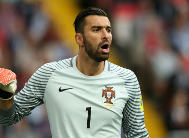 Rui Patricio is currently at the World Cup with Portugal.