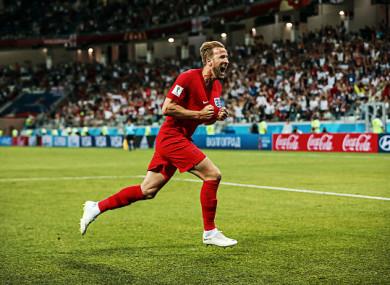 Kane scored twice in England's win over Tunisia.