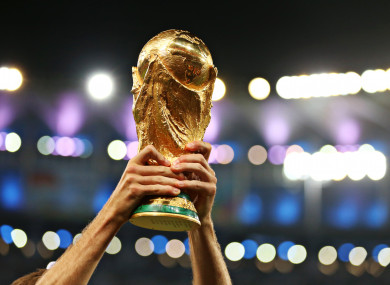 The World Cup trophy (file pic).