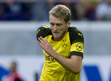 Andre Schurrle in action for Borussia Dortmund