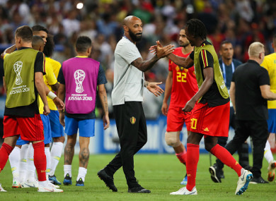 Henry and Belgium will face France in the semi-final on Tuesday.