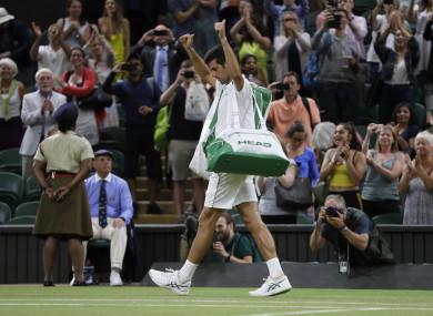 Finished for the night: Novak Djokovic.