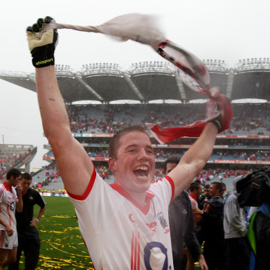 Colm O'Neill celebrating Cork's 2010 All-Ireland final victory.