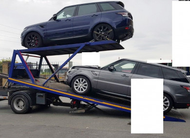 Cars seized by CAB.