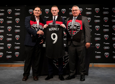 Rooney signed a three-and-a-half-year deal with DC United.