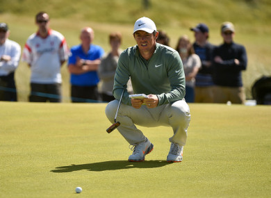 McIlroy missed several putts at Ballyliffin on Friday.