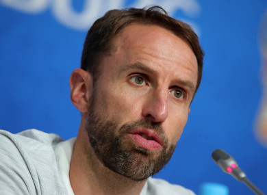Southgate speaking at a press conference earlier.