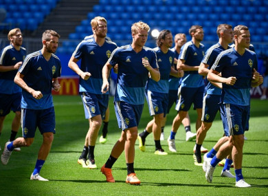The Swedish players had to evacuate their rooms earlier.