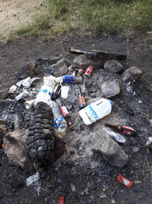 There is particular concern about campers lighting fires as there is a risk of fires spreading across the dry landscape.