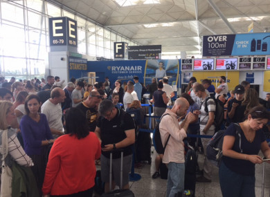 Scene at Stansted this afternoon
