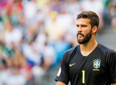 Alisson was Brazil's first choice stopper at the World Cup this summer.