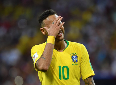 Neymar endured a difficult World Cup for Brazil.