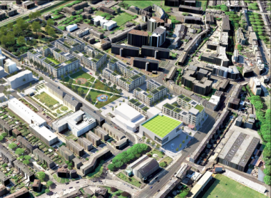 An artist's impression of the proposed development in Inchicore