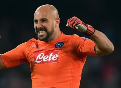 AC Milan's new goalkeeper Pepe Reina.