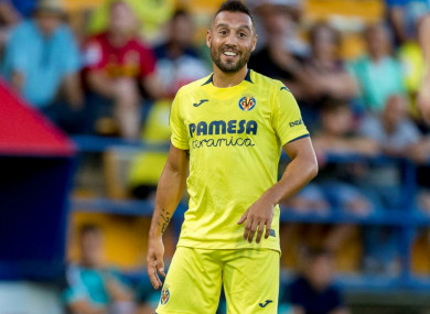 Santi Cazorla makes his long-awaited return to the football pitch for Villarreal