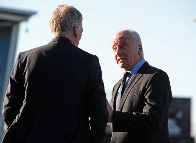 Henry chats with David Moyes in January.