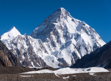 Less than 350 people have ever scaled K2, which is known as the 'Savage Mountain' for the difficulty of its ascent
