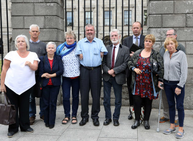 Representatives of Thalidomide Ireland outside court last week.