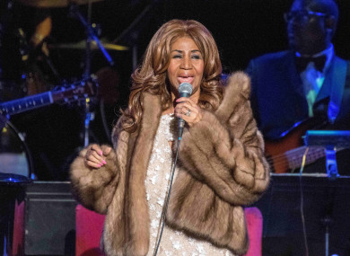 Aretha Franklin performing in 2017