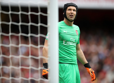 Cech started last week's defeat to Man City.