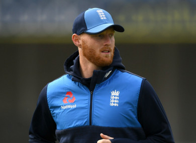 England all-rounder Ben Stokes (file pic).