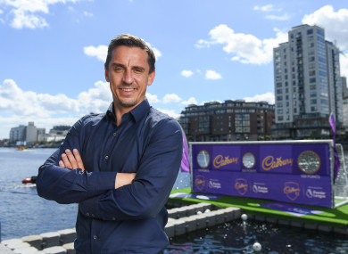 Gary Neville pictured in Dublin yesterday.