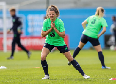 Leanne Kiernan pictured training at Tallaght Stadium yesterday.
