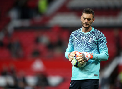 Tottenham Hotspur goalkeeper Hugo Lloris prior to the Premier League match at Old Trafford.