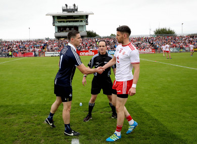 Captains' call: Cluxton and Donnelly will meet again on Sunday.