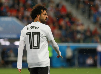 Mo Salah had a disappointing World Cup with Egypt.